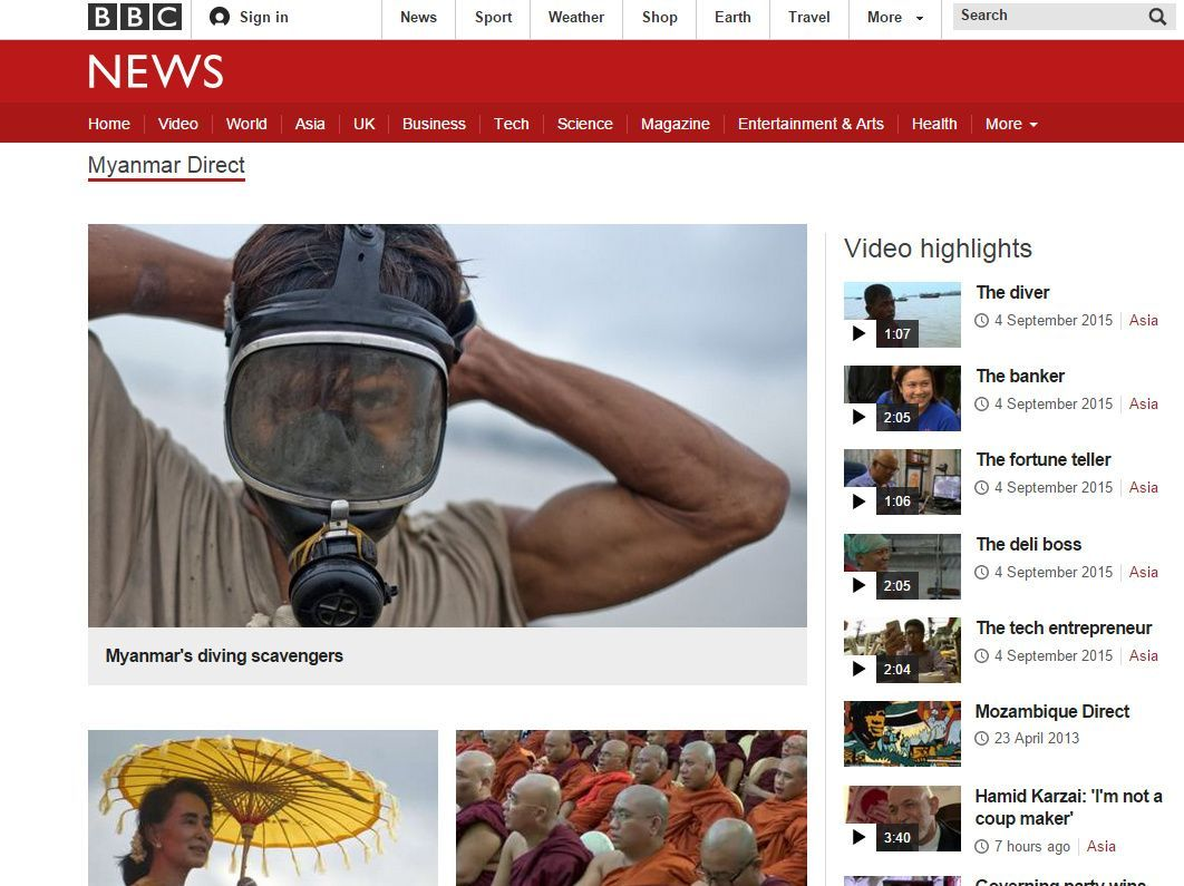 BBCでミャンマー特集(ミャンマー・ダイレクト Myanmar Direct)