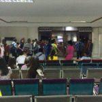 ヤンゴン空港 旧国内線ターミナルの到着ゲート(former arrival gate of Yangon domestic airport)